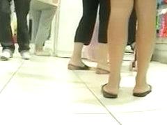 My amateur upskirt video of a blonde schoolgirl