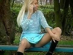 Slutty blonde was