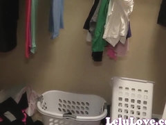Lelu Love-Caught Undressing In Closet JOE