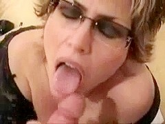 Mature wife with big tits facial