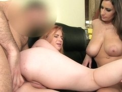FemaleAgent: Curvaceous redhead in first time anal