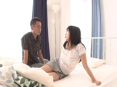Shaggy Japanese legal age teenager bonks boyfriend