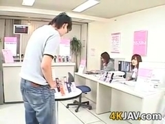 Wild Japanese Girl At Work