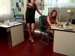 Lesbian Office Seductions #08, Scene #01