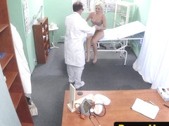 Euro amateur rides doctor before blowjob