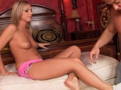Sexy Barbie White gets every toe and feet licked by her college friend