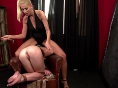 Filthy blonde Clara G. dominates over Tiffany Doll