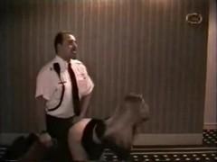 Swinger blond bonks security guard in hotel!
