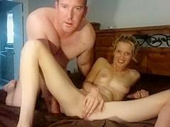 Skinny blonde amateur private fuck