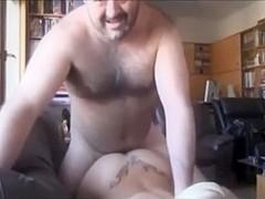 Busty blonde fucks and licks cum