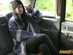 British teen gets fucked hardcore inside a taxi