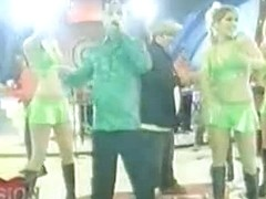 Upskirt video from a music TV show with sexy dancer girls