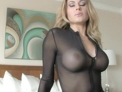 Big tit roommate gives sloppy blowjob amp swallows cum to pay rent 8