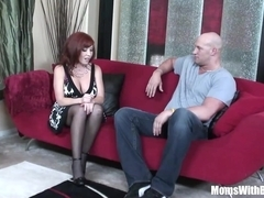 Redhead Mom Brittany O'Connell Pierced Pussy In Sexy Stockings Fucked