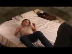 Curvy redhead college gal drilled on hidden livecam