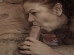 Kinky granny has a craving for hot young hard cock