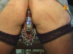 Extremley pierced mother I'd like to fuck with enormous wet crack rings bottle in arse