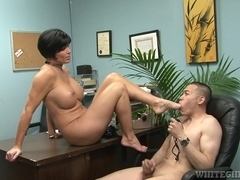 Mother I'd Like To Fuck school principal getting a foot fetish