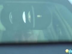 Sexy Black gf Rane driver seat blowjob