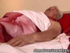Teen swallows elders cum