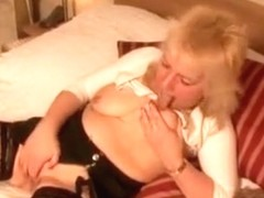 Horny mature ladies fuck themselves, and get fucked.