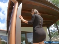 Hos creampied ass cumshot
