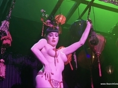 Dita Von Teese Topless Striptease - HD