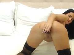 Breathtaking Girlfiend In Nylons Solo Snatch Mastubation On Livecam