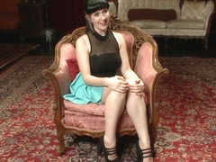 Nerine Mechanique served up and fucked at a dinner soiree