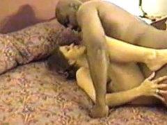 wife mounts dark fella in hotel