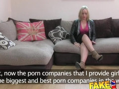 FakeAgentUK Wee Scottish minx shows deep throat skills