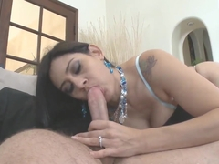 A cute Latina sucks strange dick in L.A.