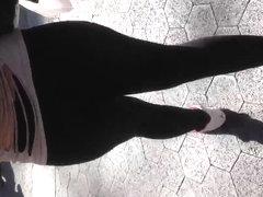 Fat see thru leggings white thong