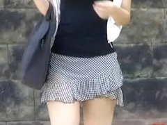 Free-spirited pretty babe gets sharking experience while walking outside