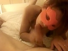 Masked Wife Blows Lover