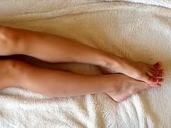 Beautiful sexy toe wiggling