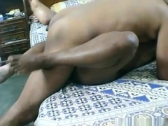 Indian milf gets her hairy pussy eaten out and missionary  fucked