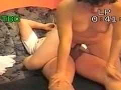 Aged dark brown hair wife riding knob