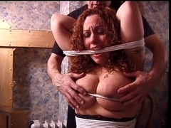 Large love bubbles redhead has her marangos teased by her slaver