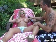 Busty Blonde Mom Devon Lee Outdoor Fucking Fun
