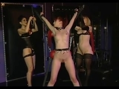 Kinky dykes in hot lesbian BDSM threesome