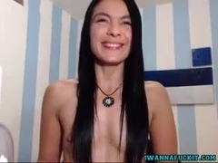 Sexy Latin Girl Fucking Hitachi