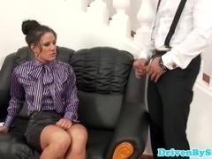Deepthroating european pornstar Athina Love