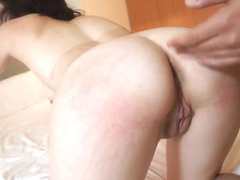 Hawt Non-Professional engulfing and fucking a large cock for specie