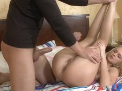 Ivana Sugar in scene showing a gal doing anal and sloppy blow job