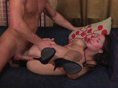 Kaylee in high heel porn shows a hottie getting fucked