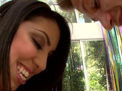 Hot Latinas curve Alexa Jaymes does wonderful blowjob