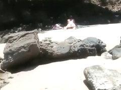 Voyeur secretly films woman in bikini sunbathing