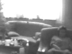 Mummy masturbating in living room. Hidden cam