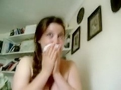 Cute girlfriend homemade lengthy blowjjob with cum in face hole
